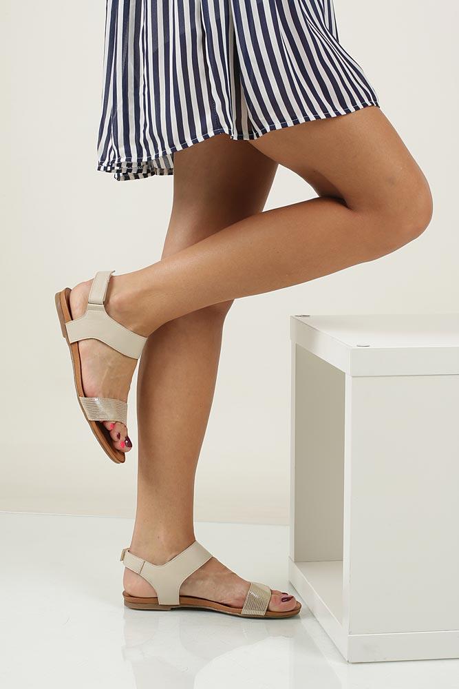 Sandały skórzane Casu 1256 material_obcasa wysokogatunkowe tworzywo