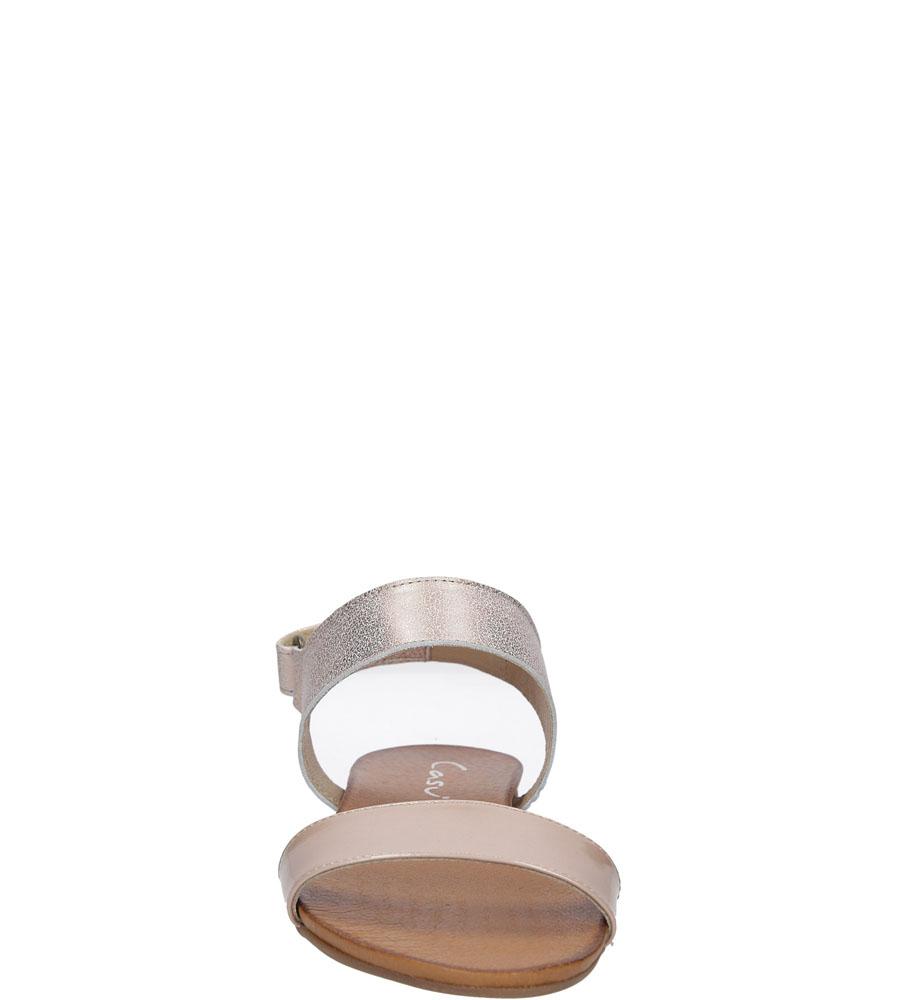 Sandały skórzane Casu 1256 kolor jasny różowy