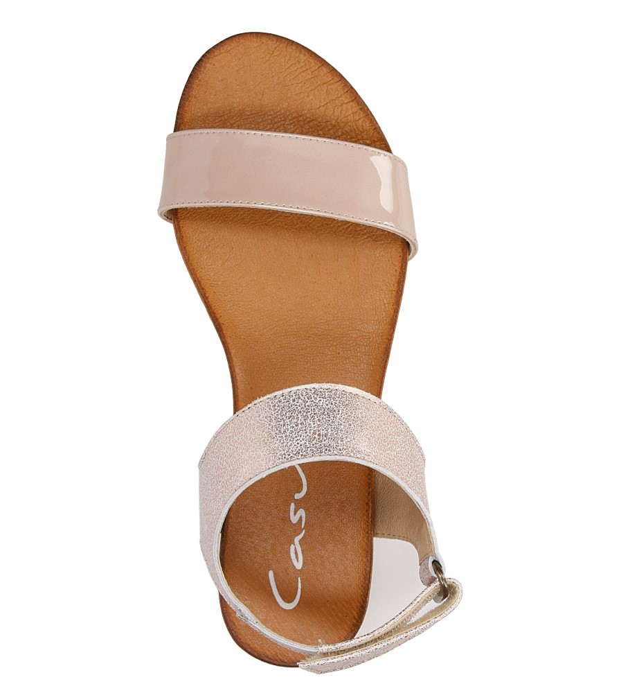 Sandały skórzane Casu 1256 wysokosc_platformy 1 cm