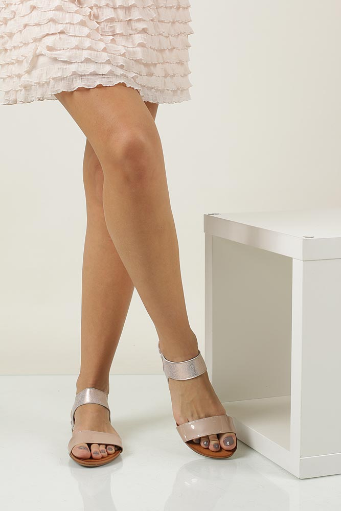 Sandały skórzane Casu 1256 wierzch skóra naturalna - lakierowana