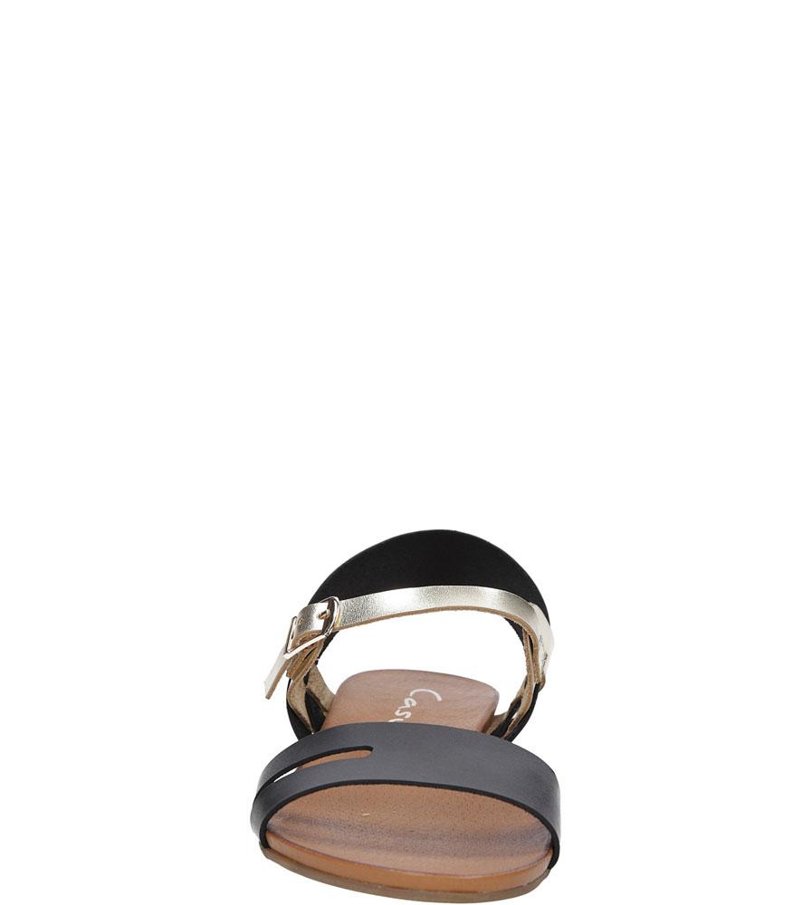 Sandały skórzane Casu 1456 kolor czarny, złoty