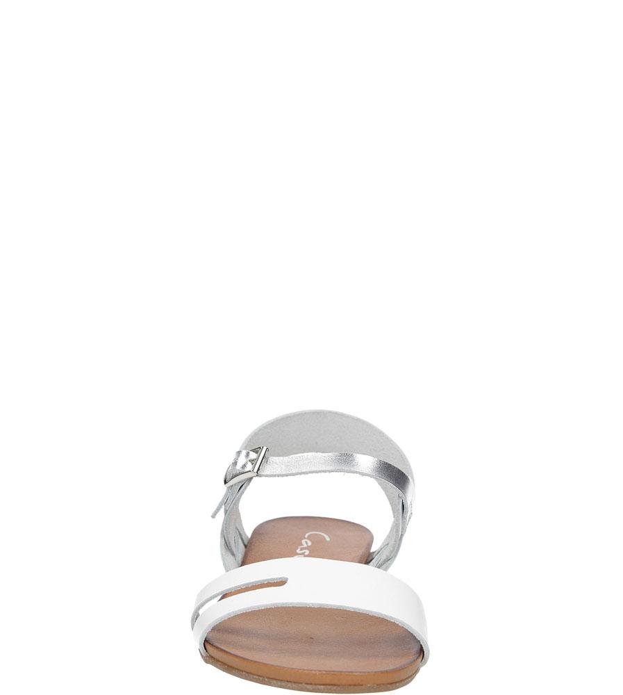 Sandały skórzane Casu 1456 kolor biały, srebrny