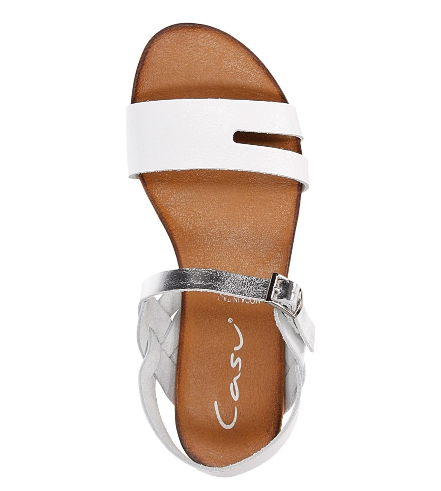 Sandały skórzane Casu 1456 wysokosc_platformy 1 cm