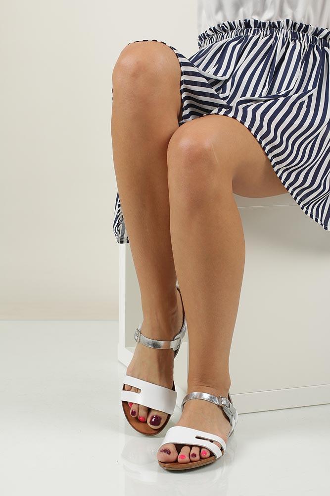 Sandały skórzane Casu 1456 wierzch skóra naturalna - licowa
