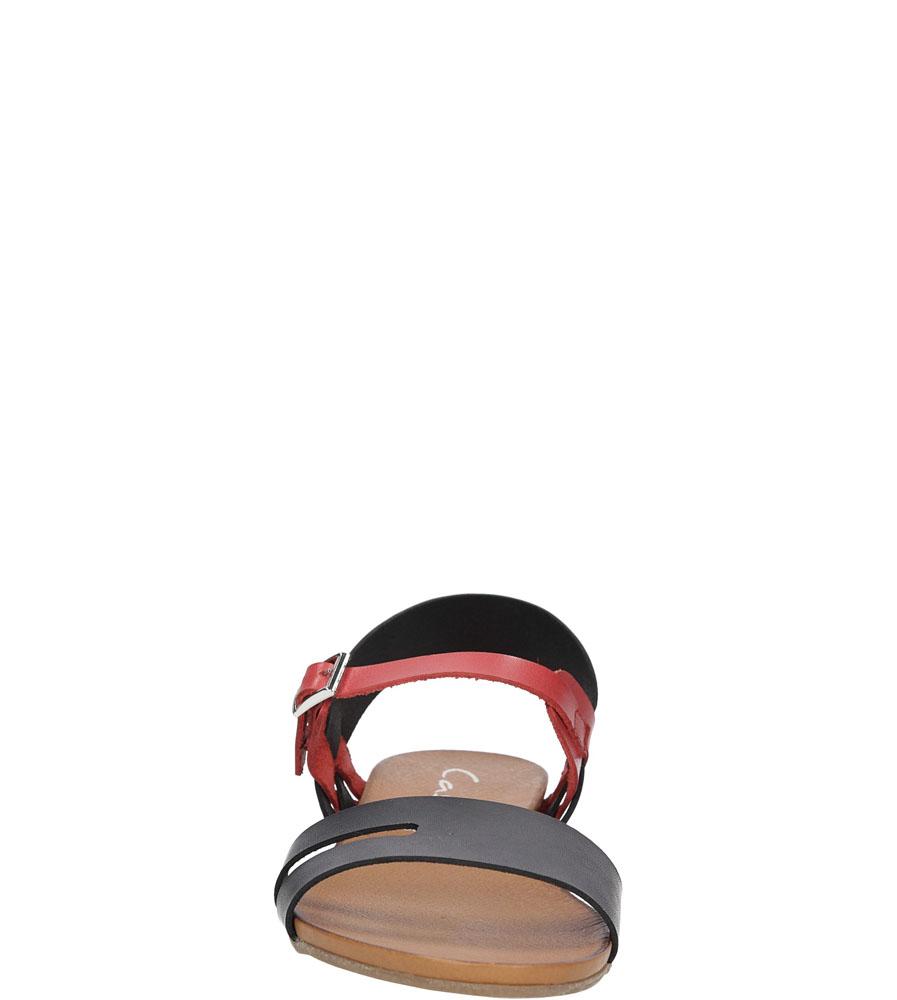 Sandały skórzane Casu 1456 kolor czarny, czerwony