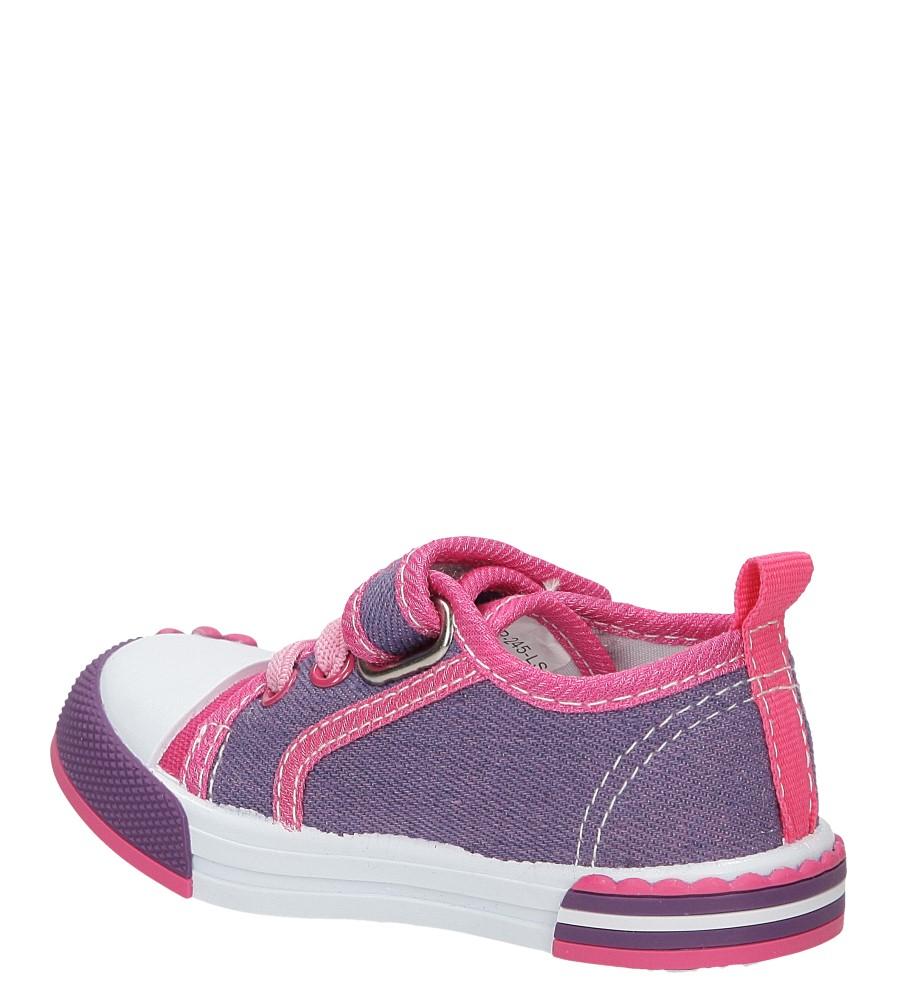 Dziecięce TRAMPKI CASU 1SP-245-LS fioletowy;różowy;