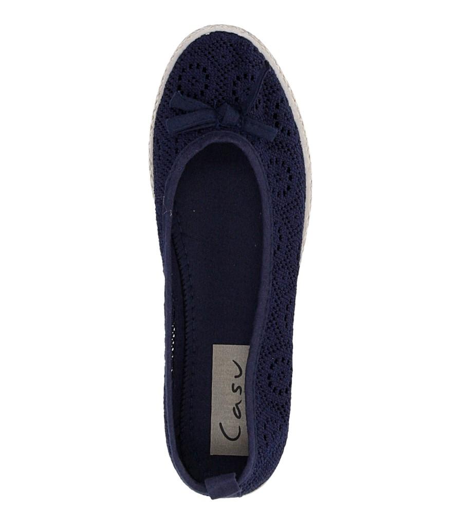 Damskie BALERINY CASU JX33 niebieski;;