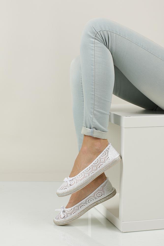 Damskie BALERINY CASU JX33 biały;;