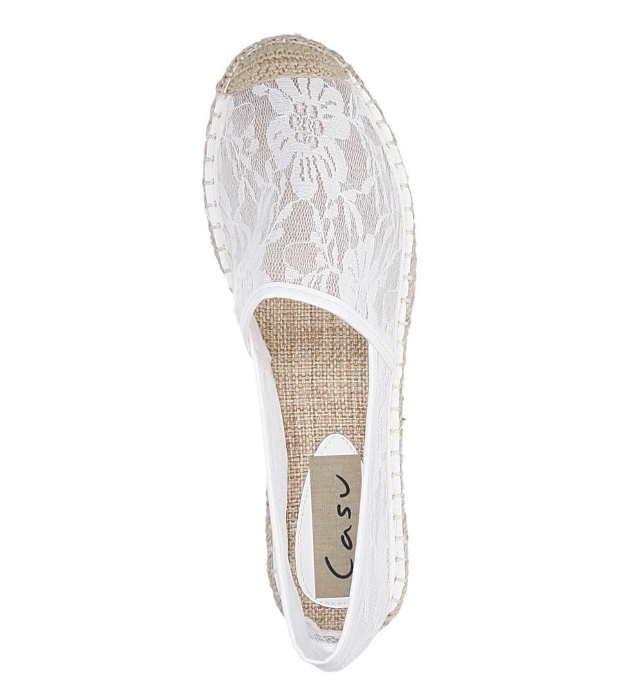 Damskie ESPADRYLE CASU FC-D26 biały;;