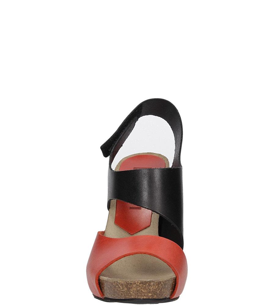 Damskie SANDAŁY NESSI 42103 czarny;pomarańczowy;