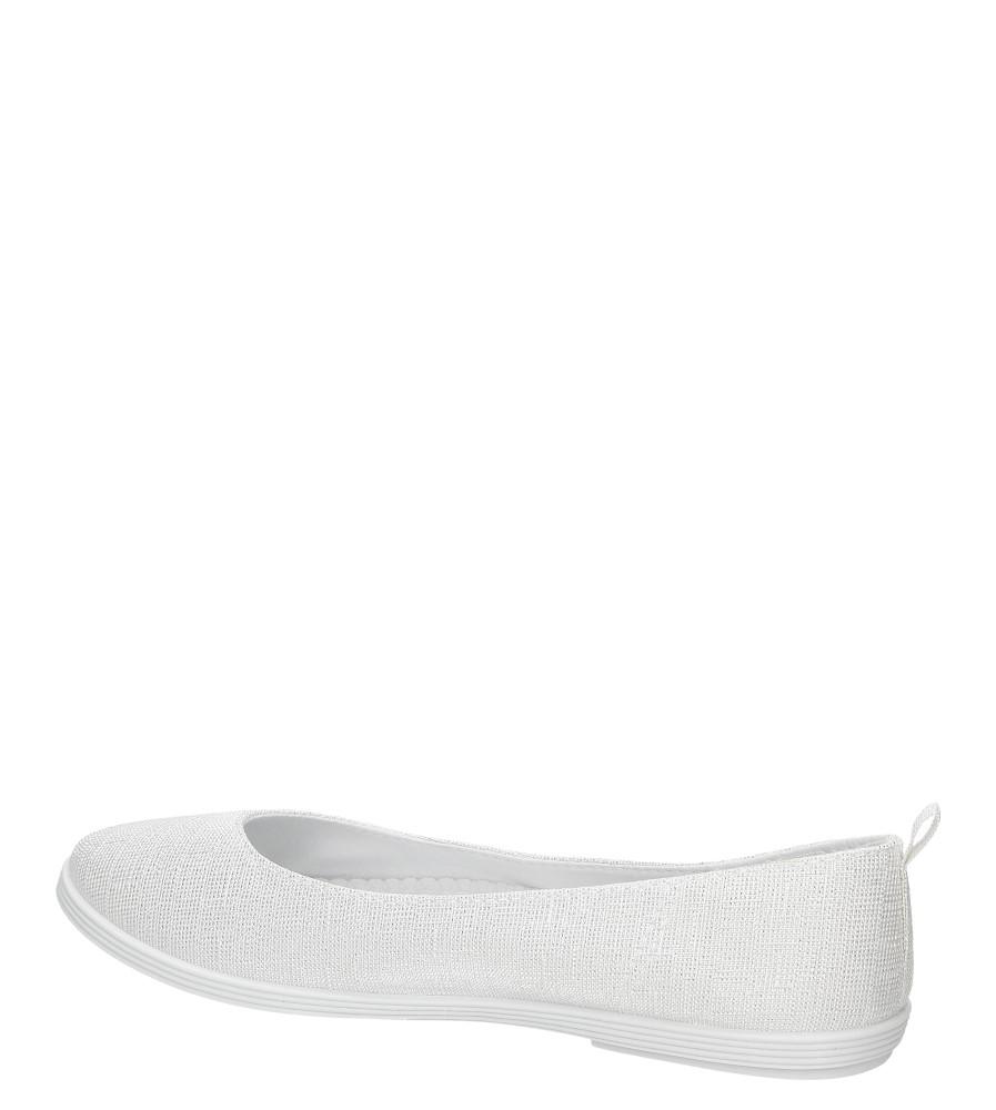 Damskie BALERINY CASU JX23 biały;srebrny;
