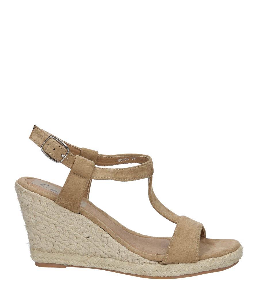 Damskie Sandały Casu 60406 beżowy;;