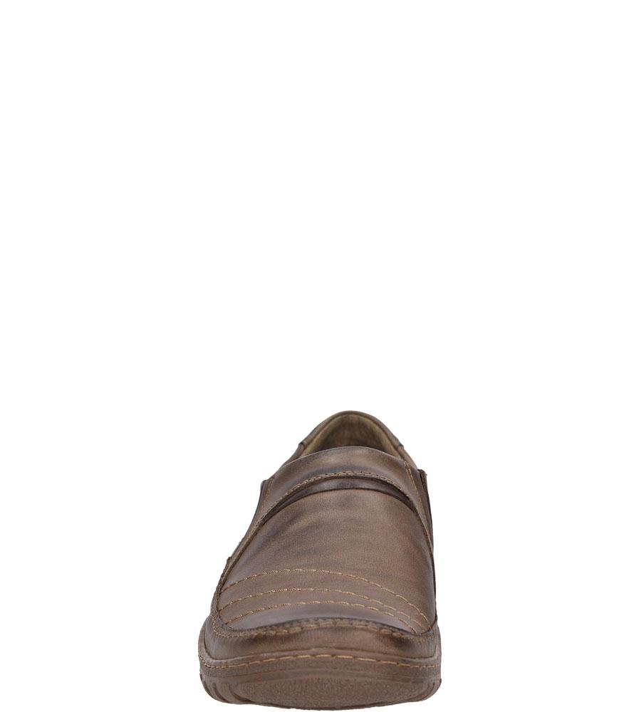 Półbuty skórzane wsuwane Casu 283 kolor brązowy