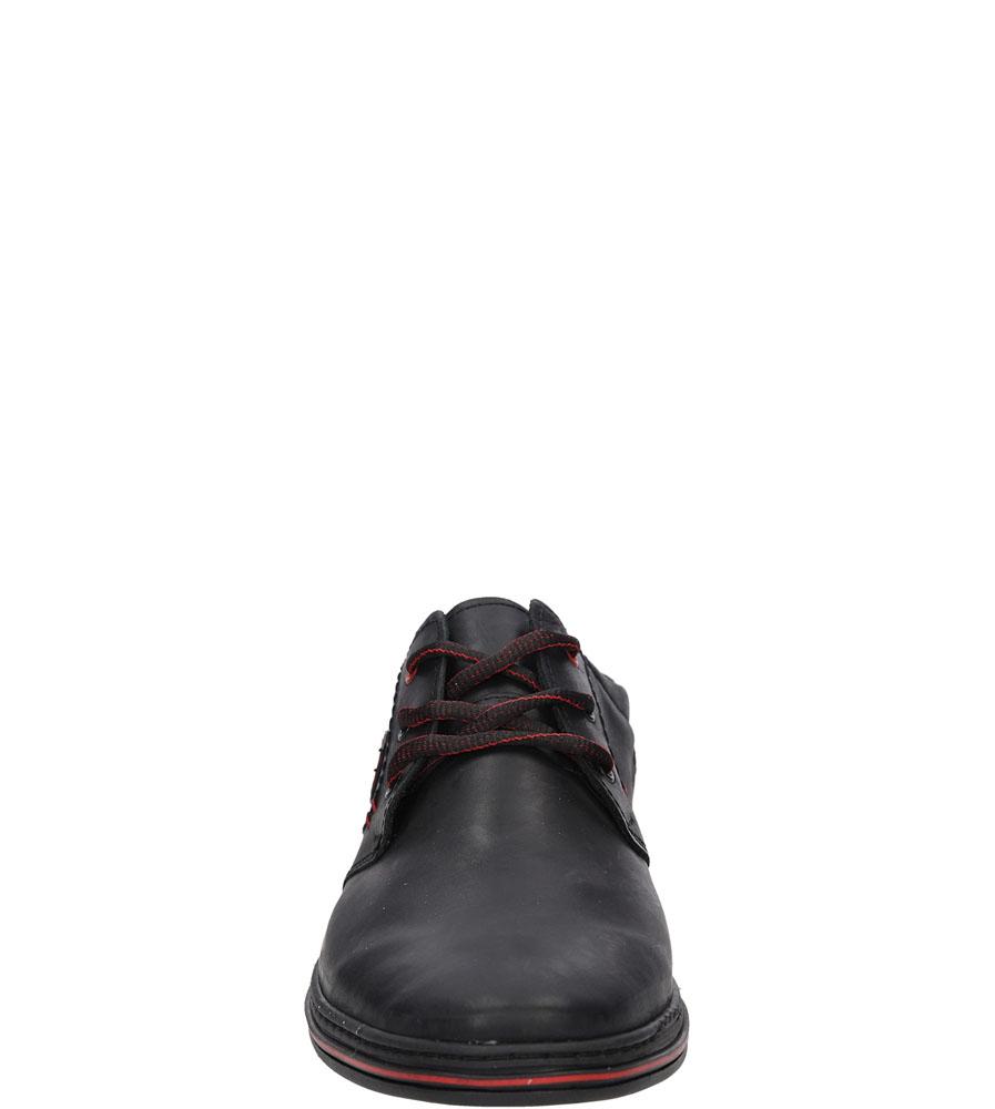 Półbuty skórzane sznurowane Casu 372 kolor czarny