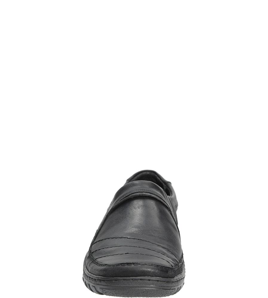 Męskie Półbuty skórzane wsuwane Casu 283 czarny;;