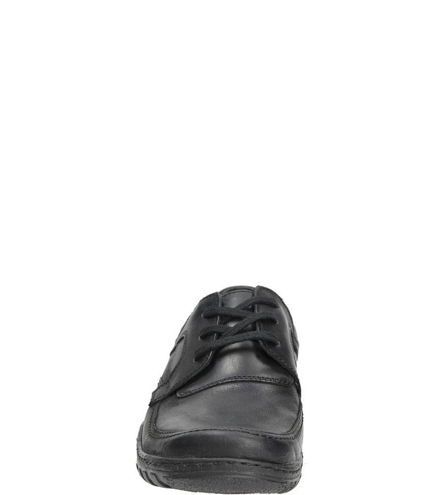 Męskie Półbuty skórzane sznurowane Casu 298 czarny;;