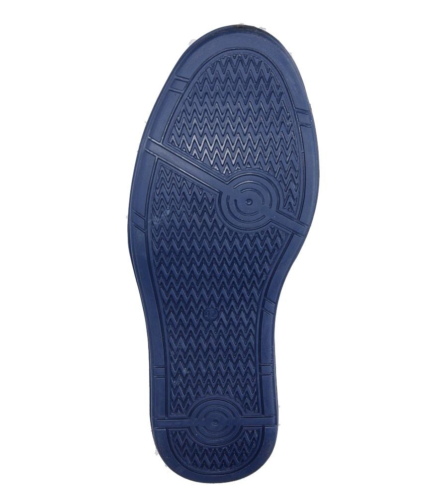 Męskie Półbuty skórzane sznurowane Casu 343 niebieski;;