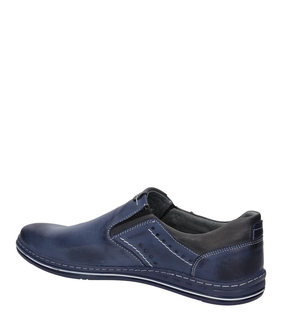 Półbuty skórzane wsuwane Casu 401 kolor niebieski