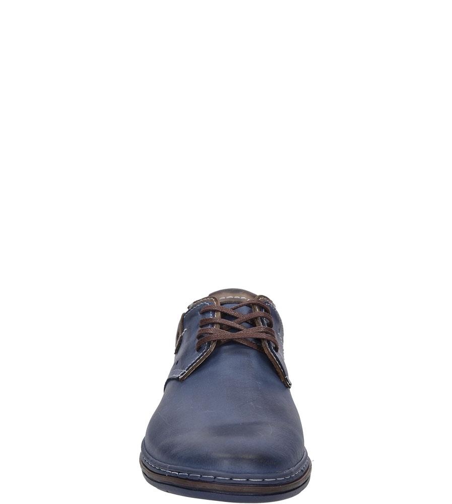 Męskie Półbuty skórzane sznurowane Casu 402 niebieski;;