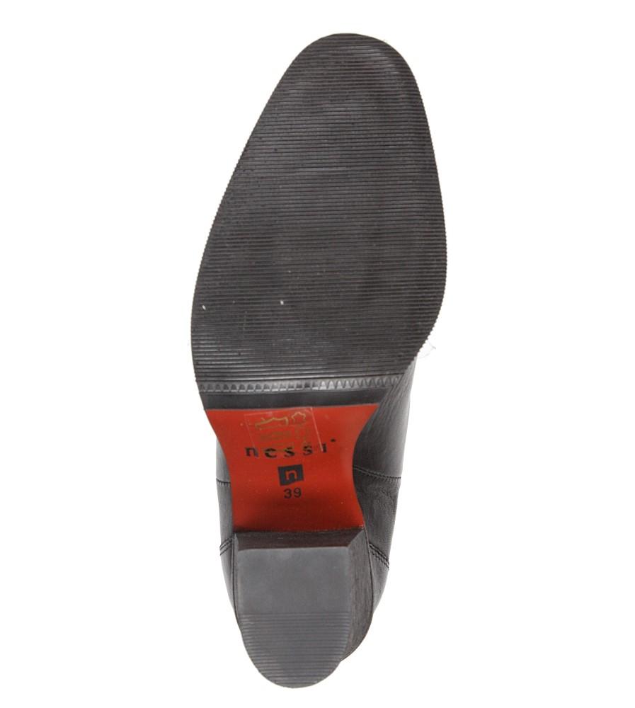 Damskie BOTKI NESSI 885/N czarny;;