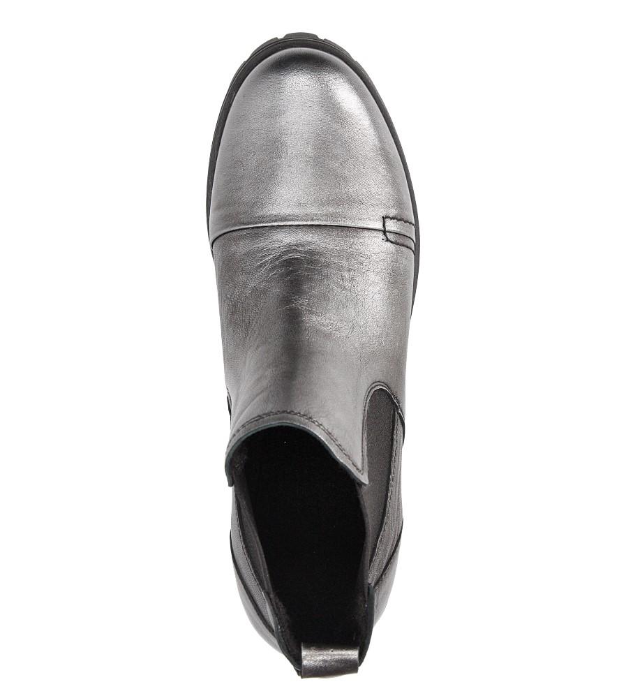 Damskie BOTKI NESSI 869/0 srebrny;;