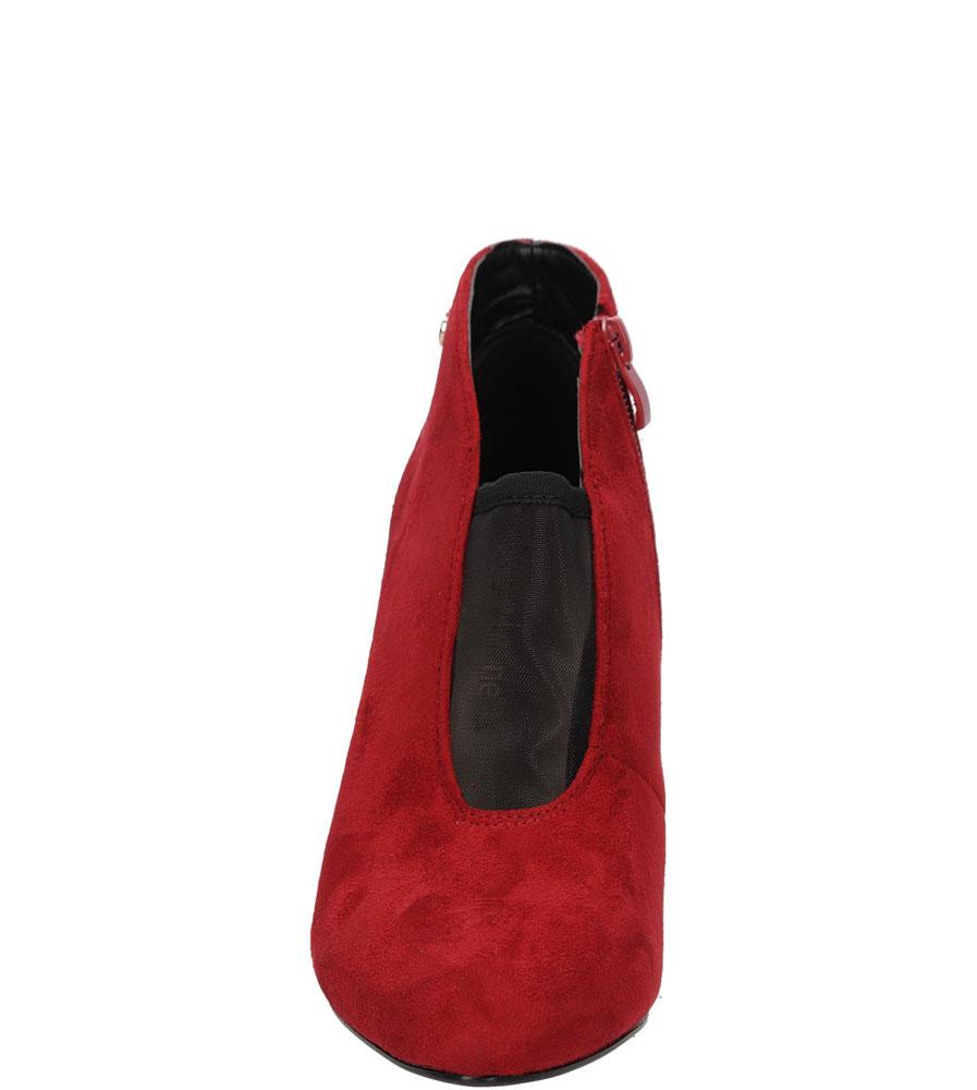 Damskie BOTKI SERGIO LEONE 12792 czerwony;;