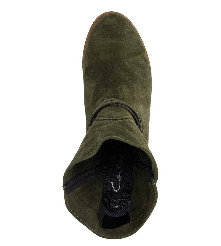 Damskie BOTKI CASU 1058 zielony;;