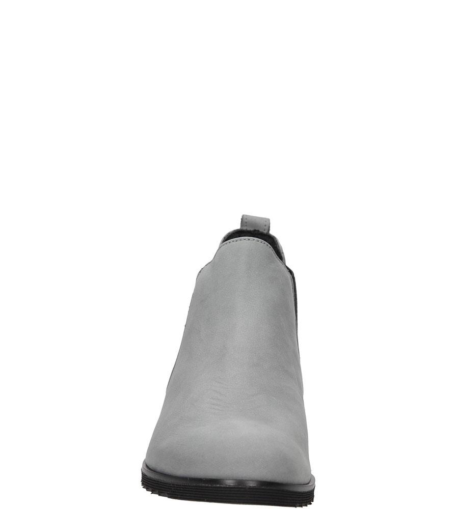 Damskie BOTKI CASU 264/K szary;;