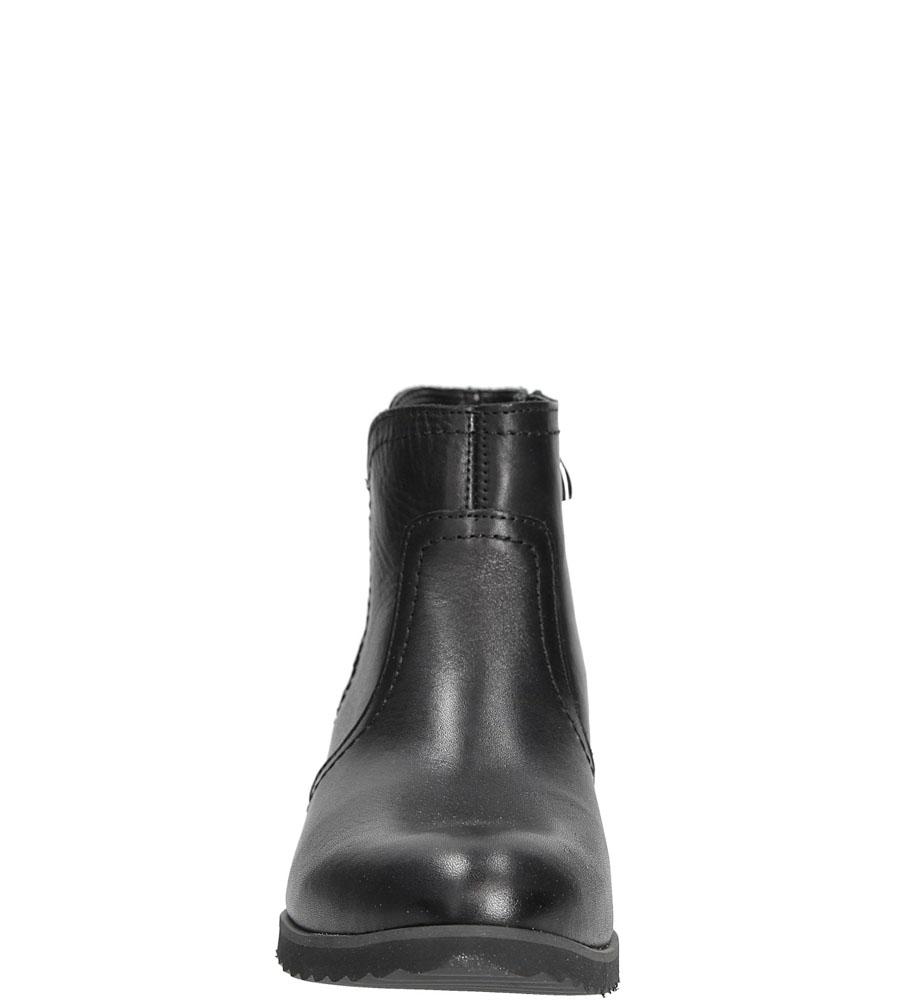 Damskie BOTKI GINO FABIANI 1090/5 czarny;;
