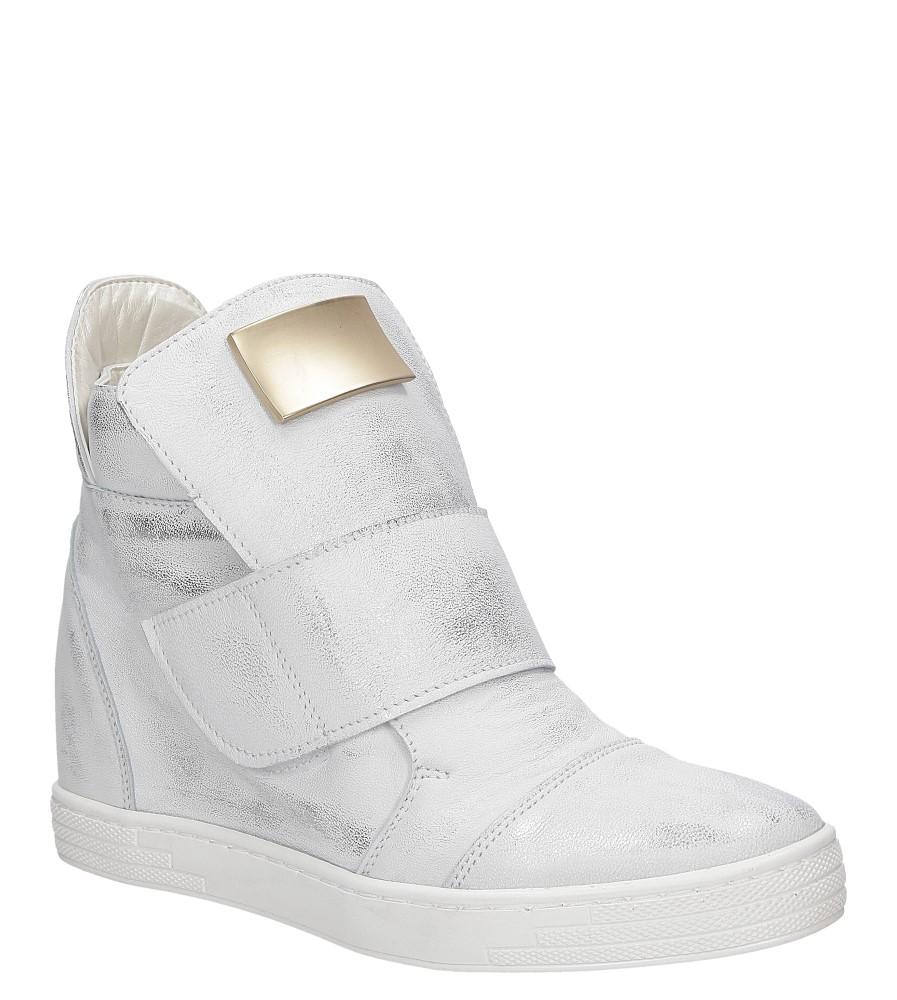 Damskie SNEAKERSY CASU 2350 biały;srebrny;