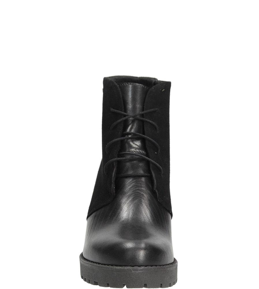 Damskie BOTKI CASU 1501 czarny;;