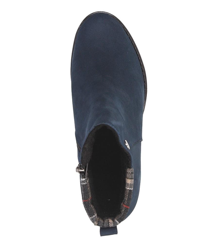 Damskie BOTKI CASU B-03 niebieski;;