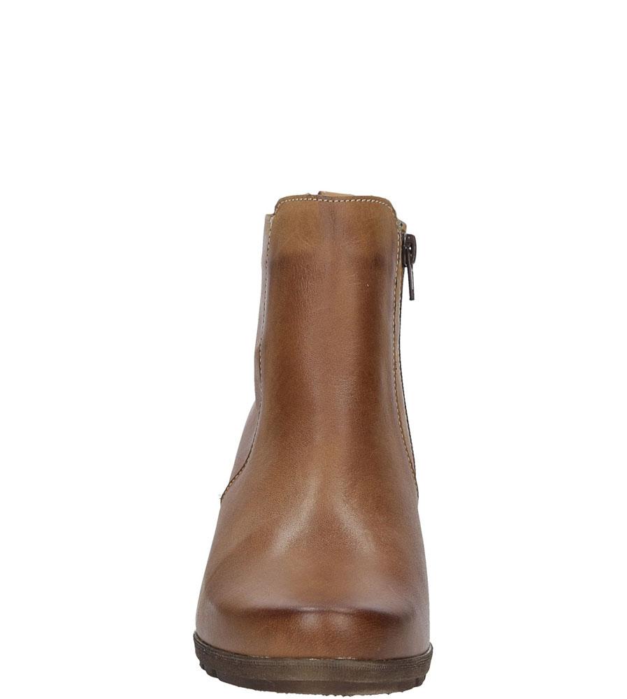 Damskie BOTKI CASU 3215 brązowy;;