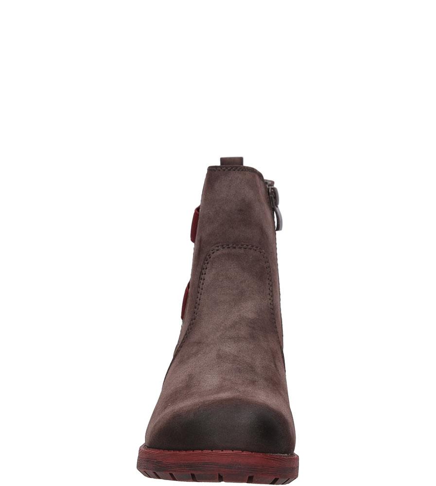 Damskie BOTKI RIEKER 96863 brązowy;bordowy;