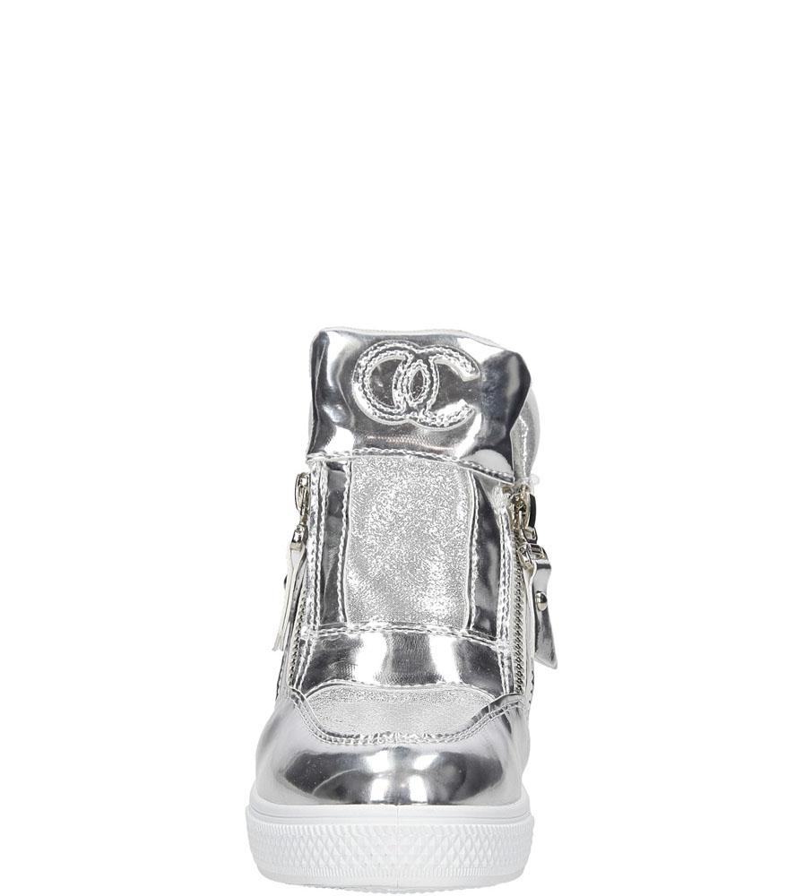 Dziecięce SNEAKERSY CASU S-2-0011 srebrny;;