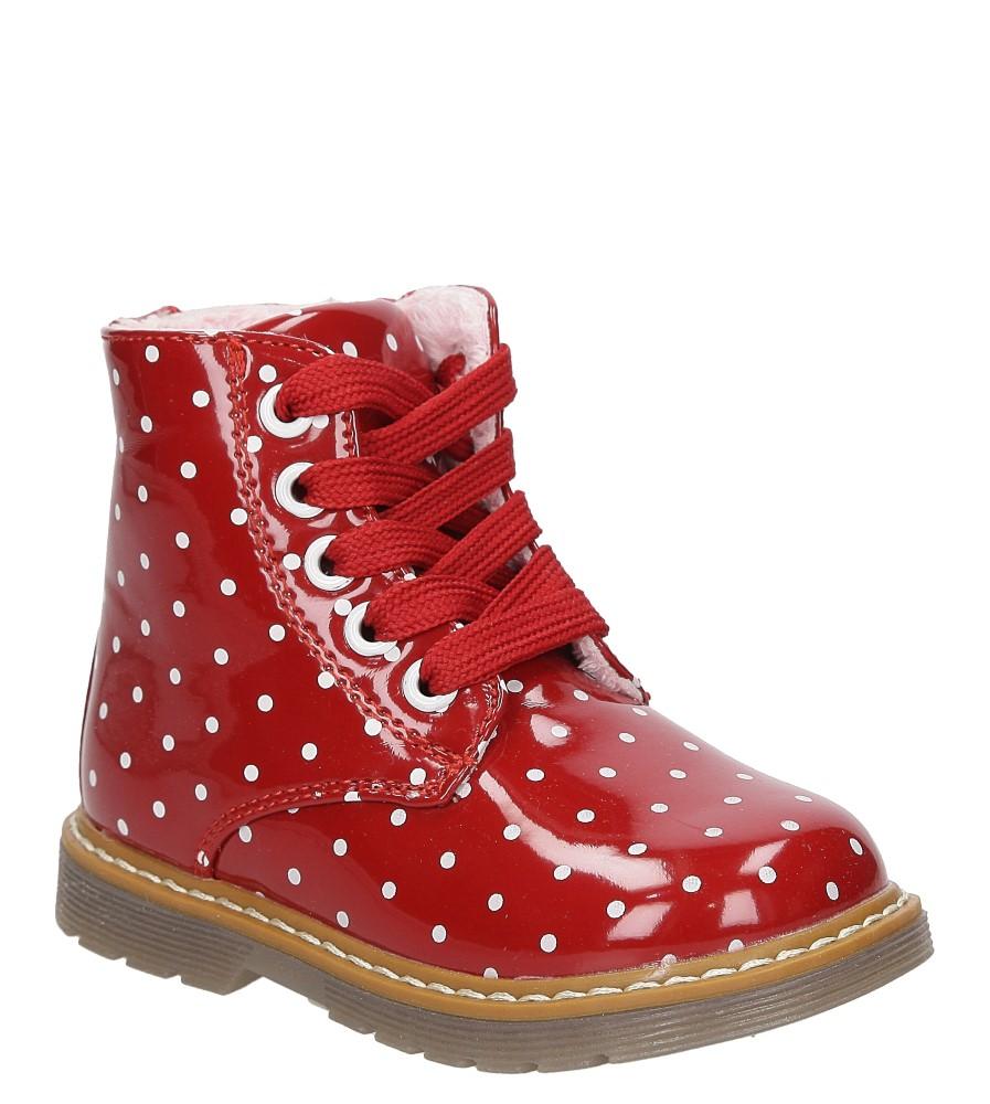 Dziecięce TRZEWIKI CASU 3W-DY163603 czerwony;biały;