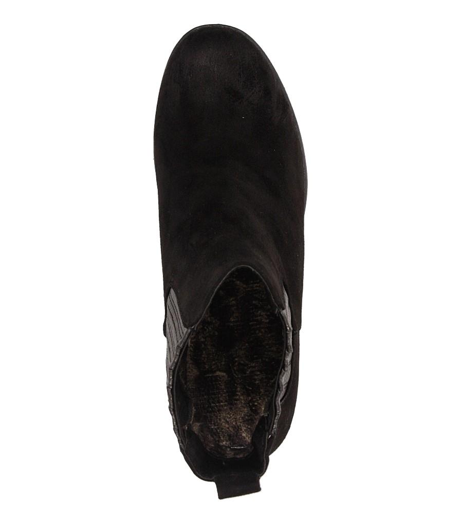 Damskie BOTKI S.BARSKI 1667-E12 czarny;;
