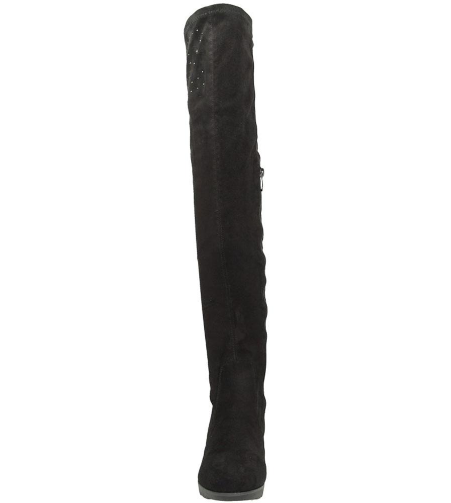 Damskie KOZAKI CASU LX05656 czarny;;