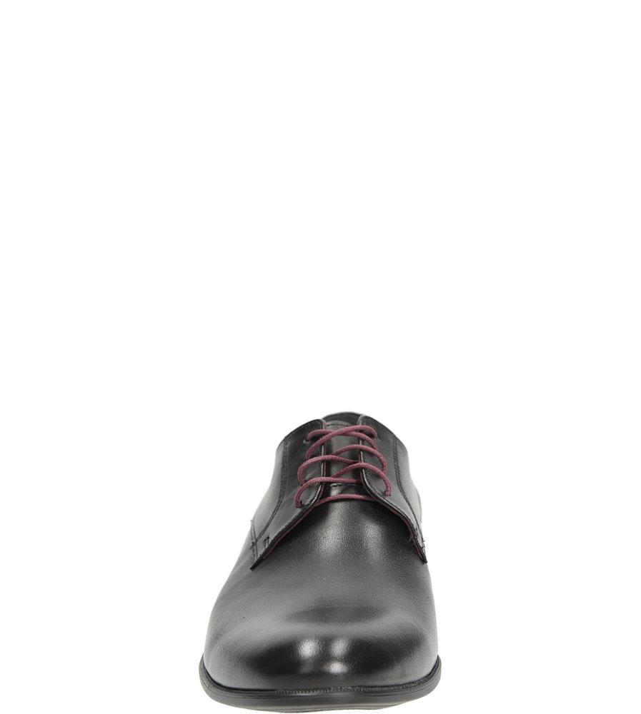 Męskie Wizytowe czarne skórzane sznurowane Windssor 361 czarny;;