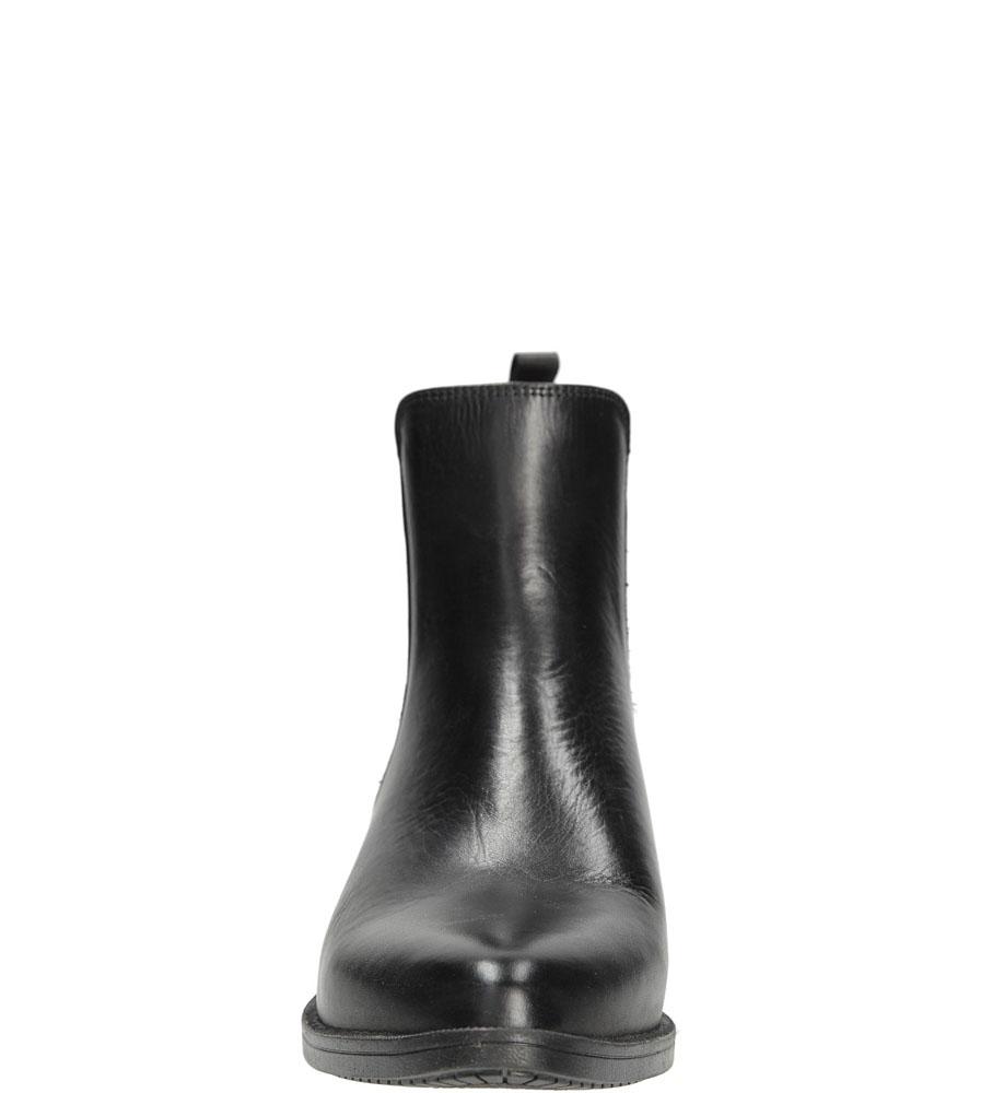 Damskie SZTYBLETY NESSI 874/N czarny;srebrny;