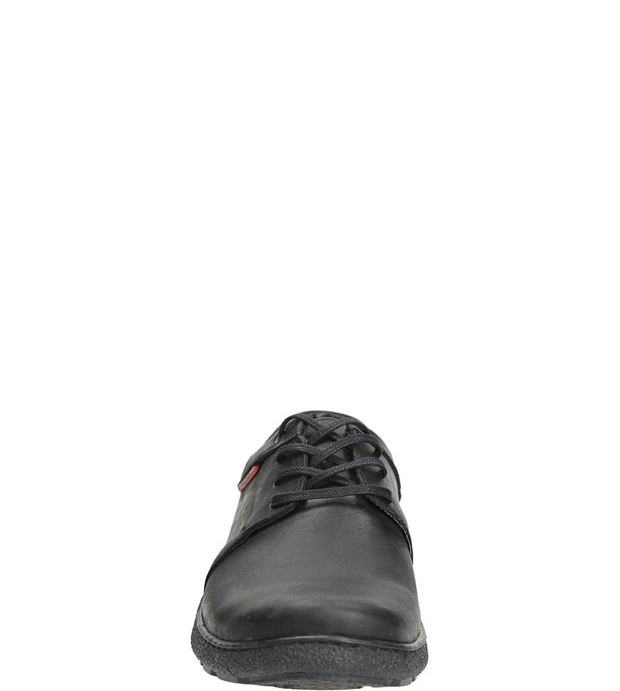 Półbuty skórzane sznurowane Casu 376 kolor czarny