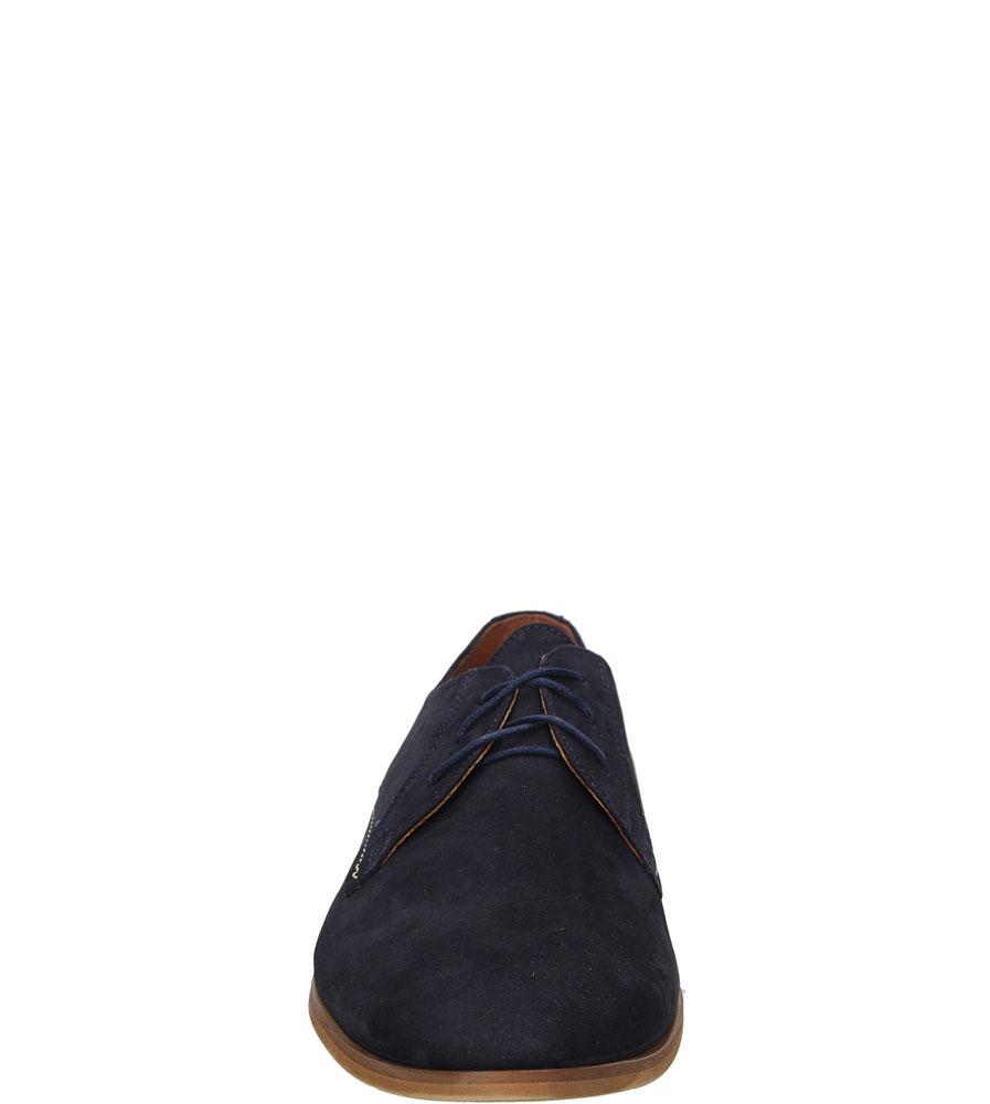 Męskie Wizytowe granatowe welurowe sznurowane Windssor 353 niebieski;;
