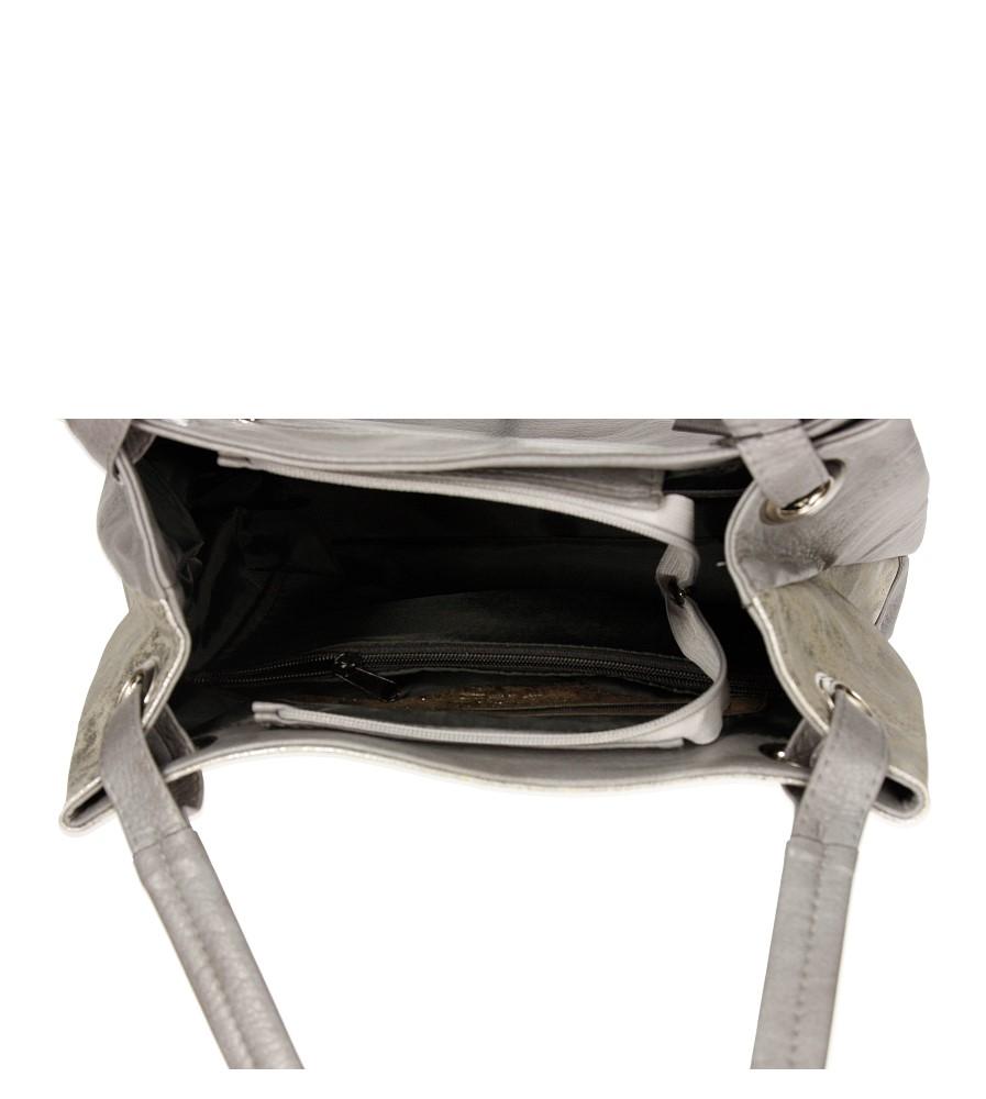 Damskie TOREBKA 1291 szary;srebrny;