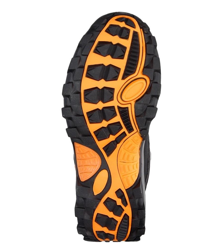 Męskie TREKKINGOWE AMERICAN HLA8690HIGH czarny;pomarańczowy;
