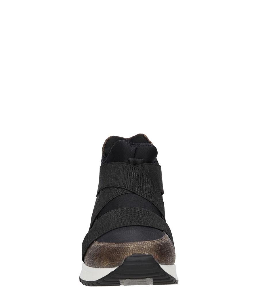 Damskie SNEAKERSY JEZZI 91Z6SP5718 czarny;brązowy;