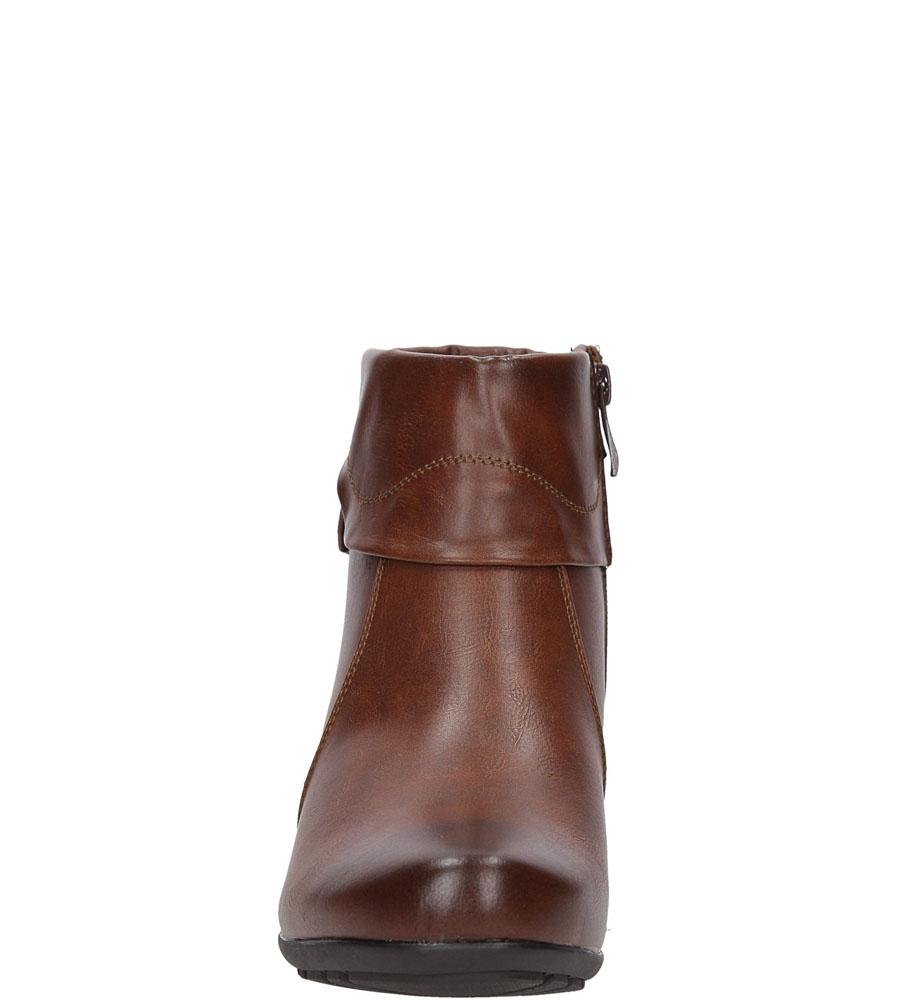 Damskie BOTKI JEZZI MR1599-8 brązowy;;