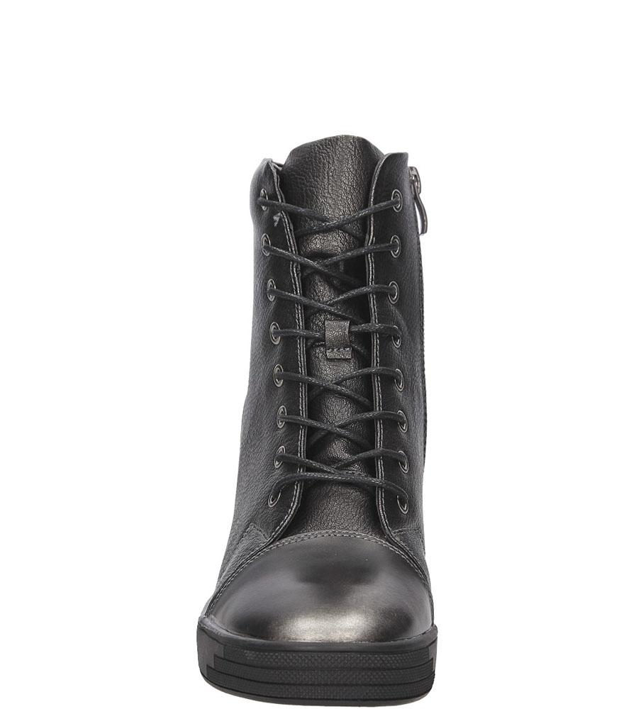 SNEAKERSY SERGIO LEONE 28332 kolor czarny, stalowy