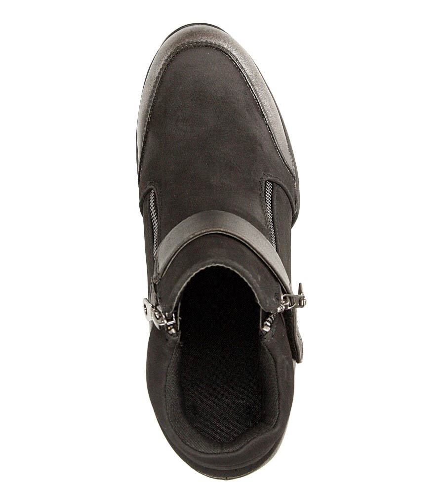 Damskie SNEAKERSY SERGIO LEONE 22661 czarny;srebrny;