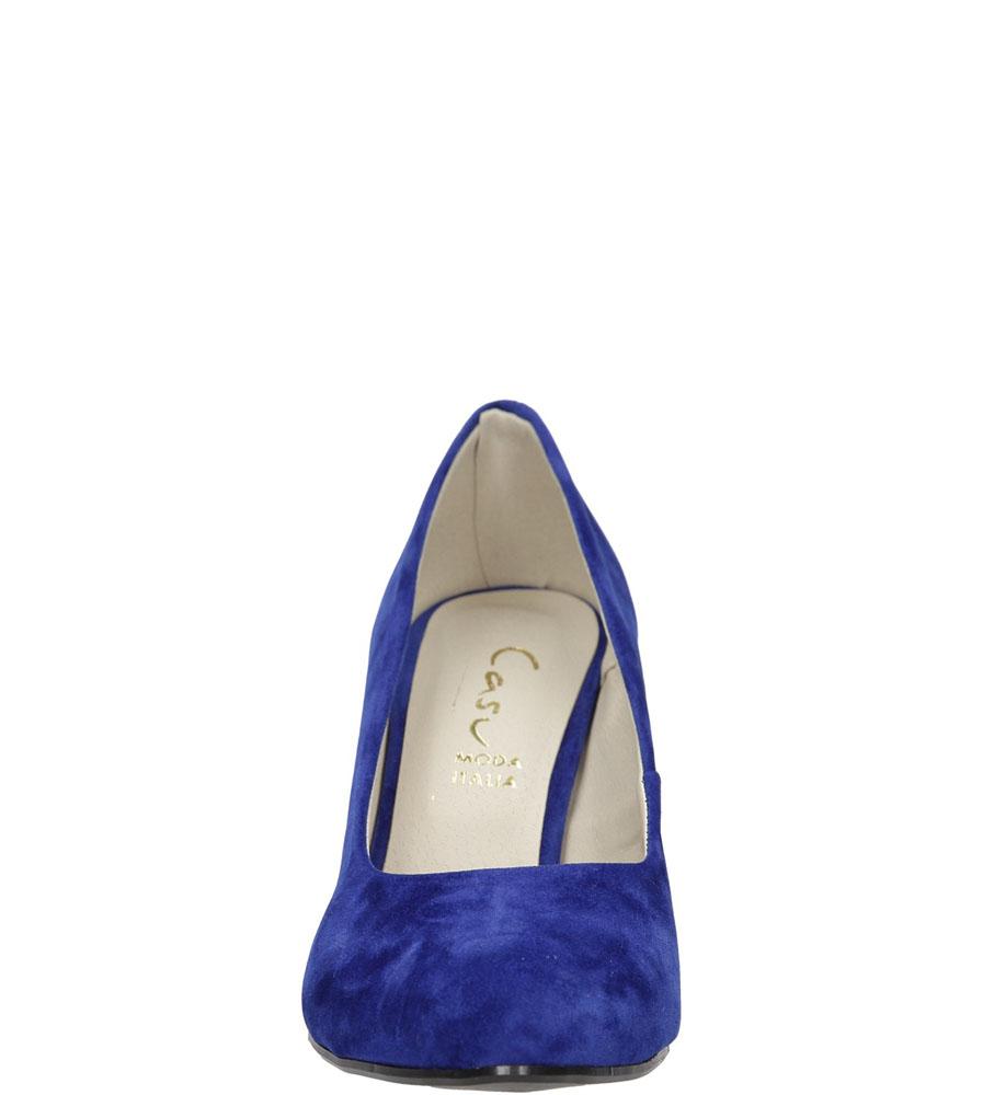 Czółenka chabrowe zamszowe Casu 2423 kolor modrakowy