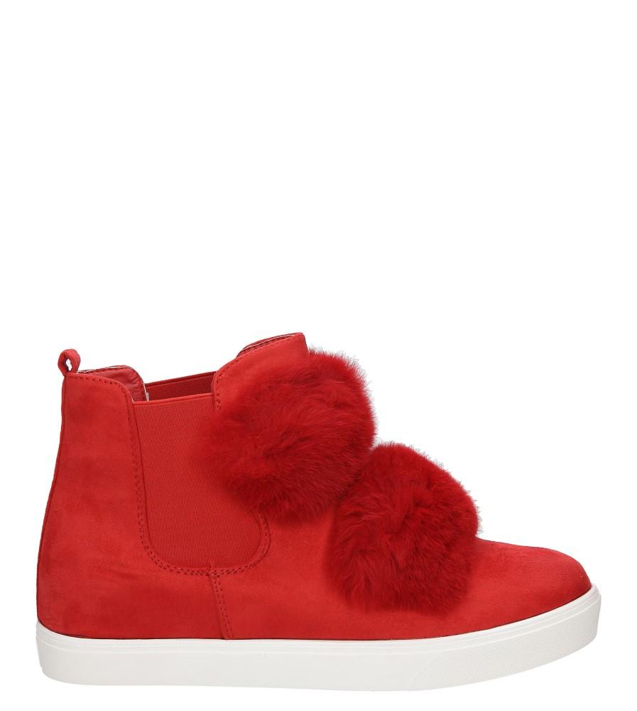 Damskie BOTKI CASU R101 czerwony;;